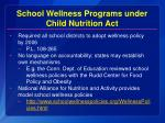 school wellness programs under child nutrition act