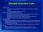 selected innovative laws