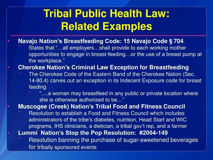 Tribal Public Health Law: