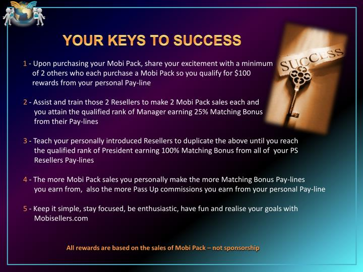 YOUR KEYS TO SUCCESS
