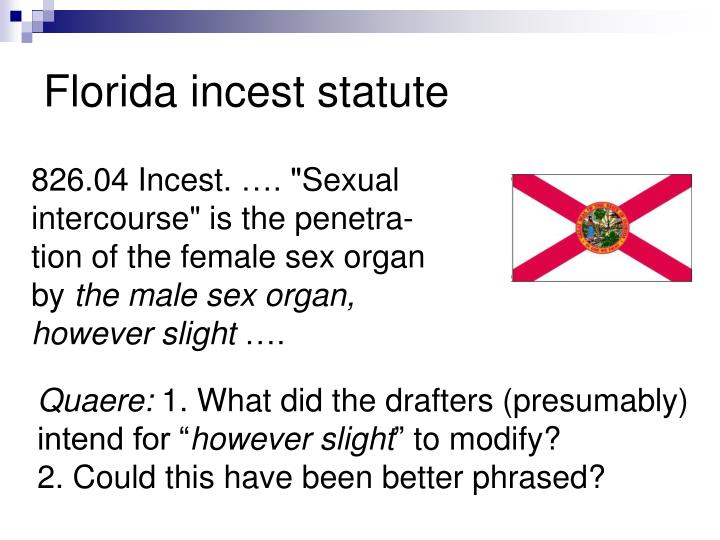 Florida incest statute