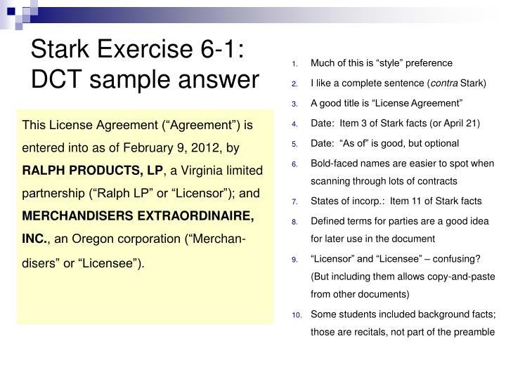 Stark Exercise 6-1: