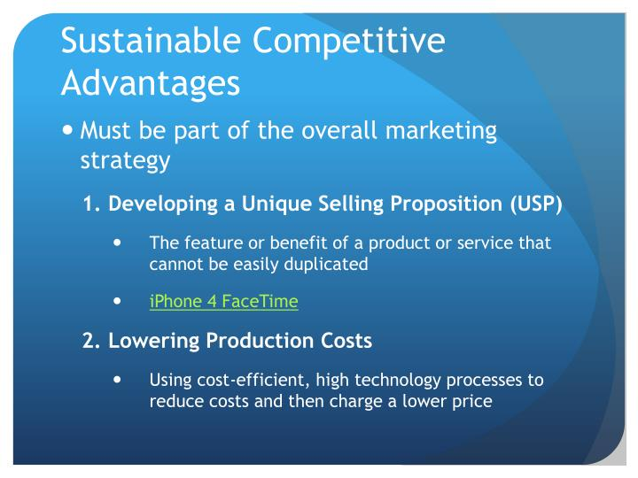 Sustainable Competitive