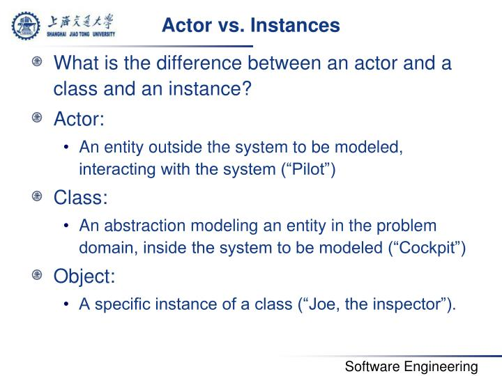 Actor vs. Instances