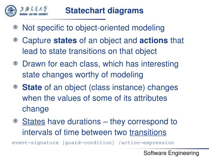 Statechart diagrams