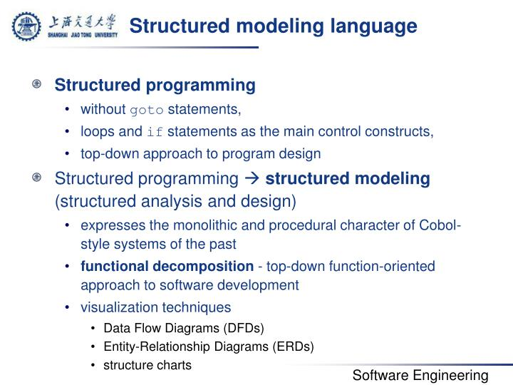 Structured modeling language