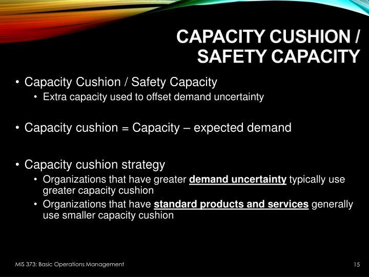 Capacity Cushion /