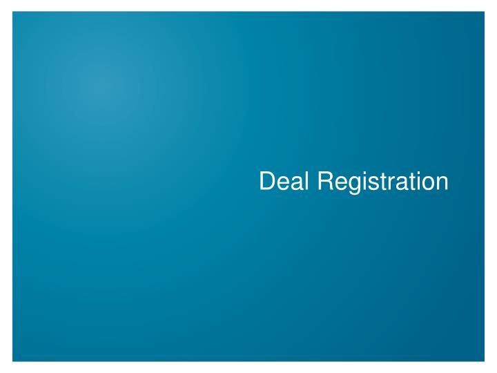 Deal Registration