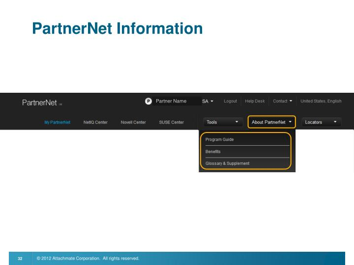 PartnerNet Information