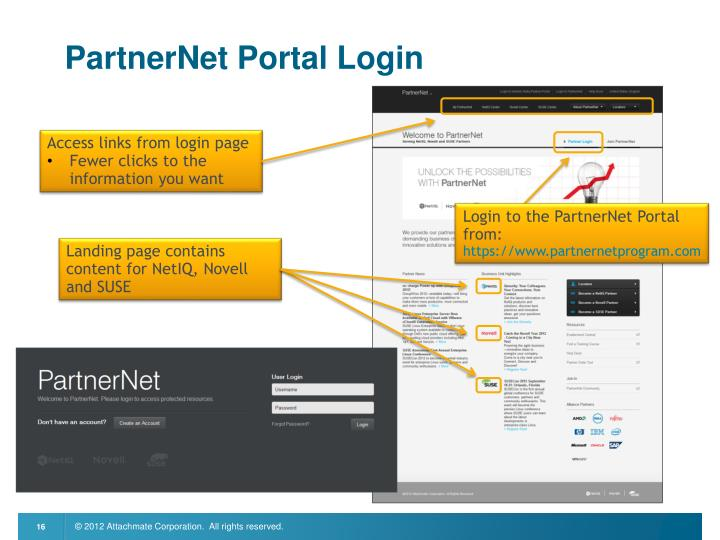 PartnerNet Portal Login