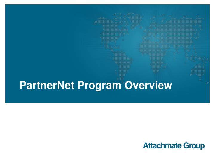 Partnernet program overview