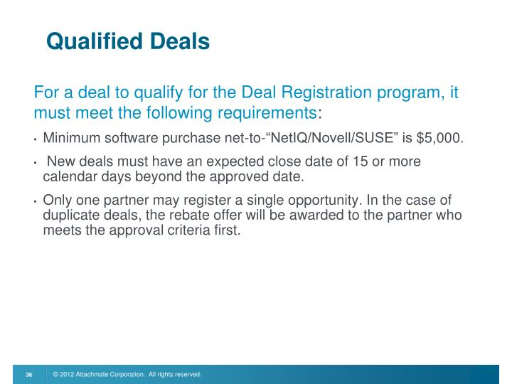 Qualified Deals