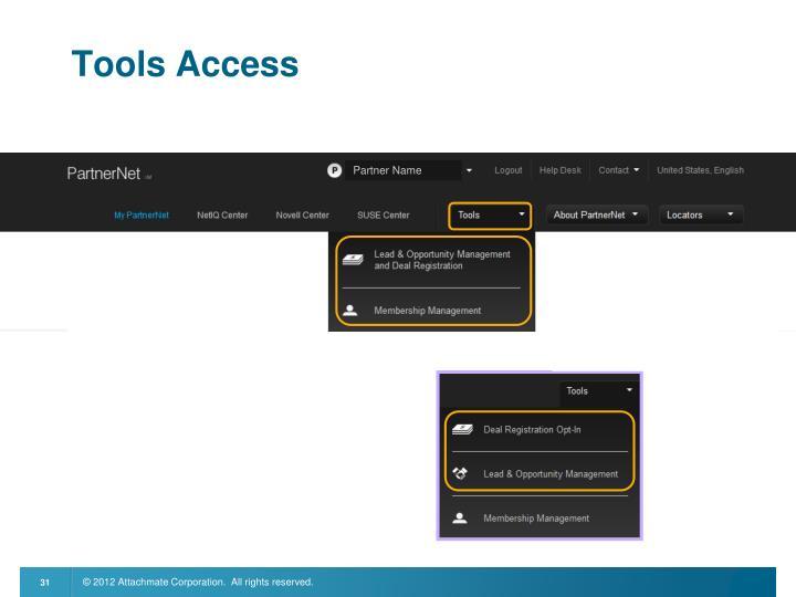 Tools Access