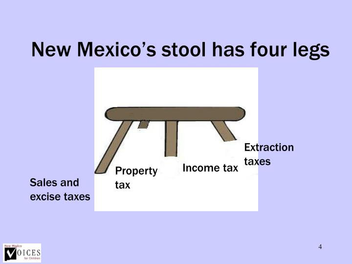 New Mexico's stool has four legs