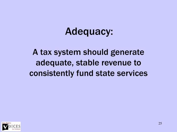 Adequacy: