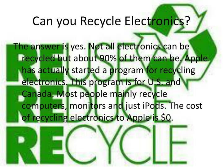 Can you Recycle Electronics?