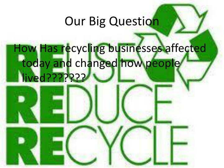Our Big Question