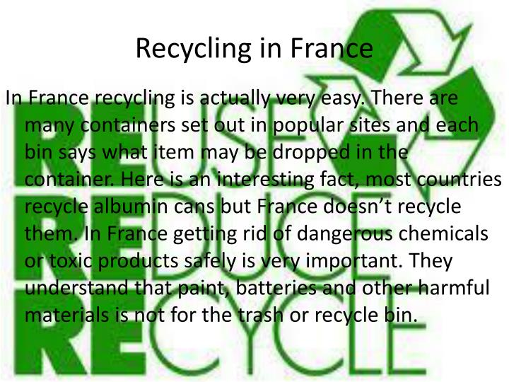 Recycling in France