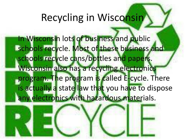 Recycling in Wisconsin