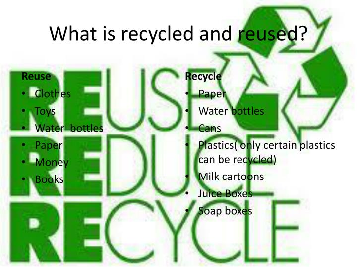 What is recycled