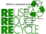what is recycled and reused