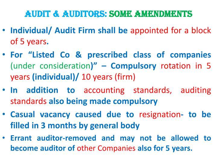 Audit & Auditors: