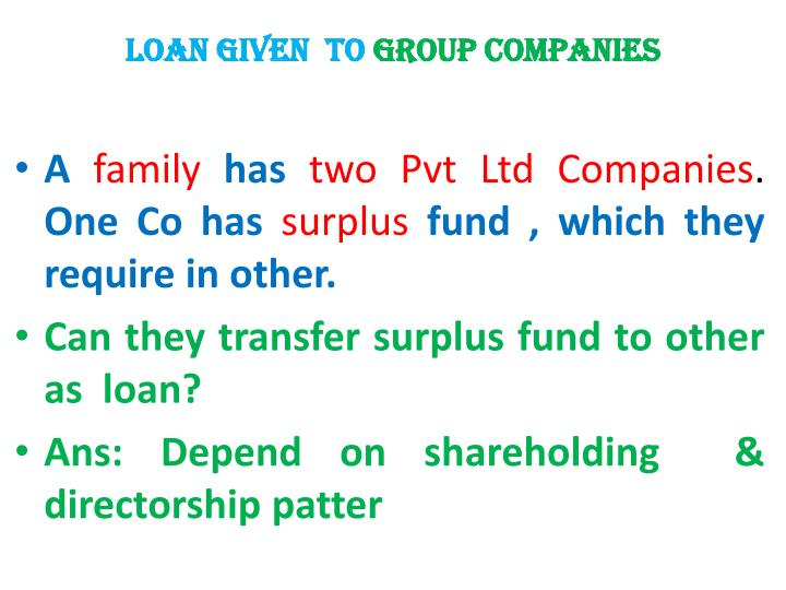 LOAN given  to