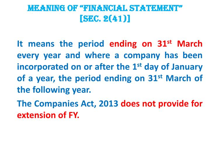 """MEANING OF """"FINANCIAL"""