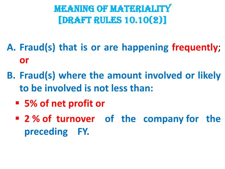 MEANING OF MATERIALITY