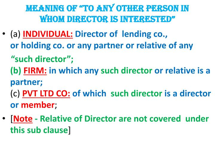 """MEANING OF """"TO ANY OTHER PERSON IN"""
