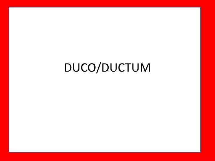 DUCO/DUCTUM
