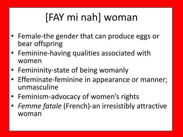 [FAY mi nah] woman