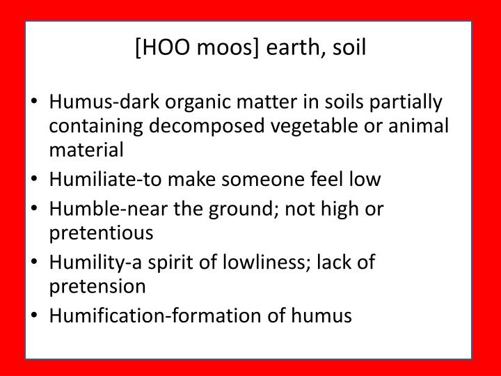 [HOO moos] earth, soil
