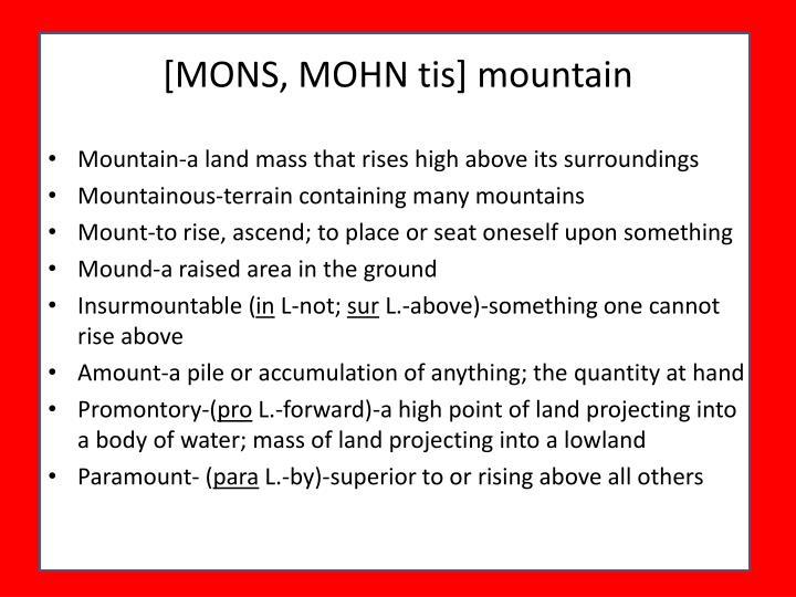 [MONS, MOHN