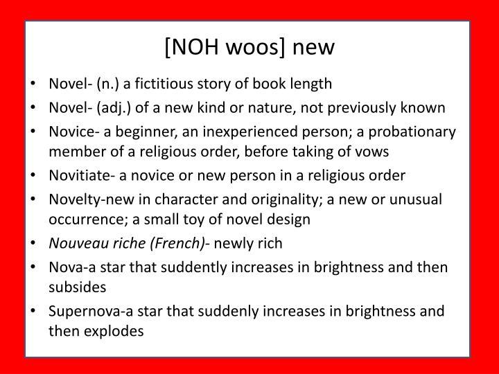 [NOH woos] new