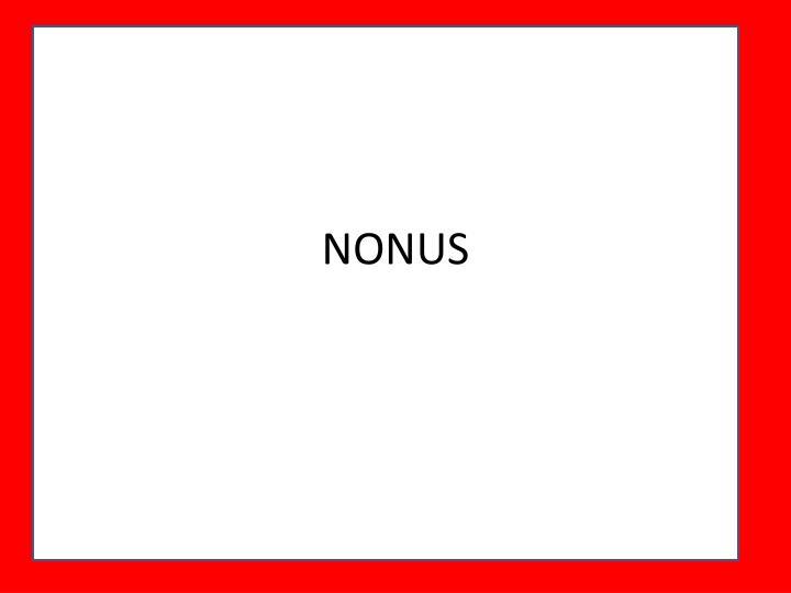 NONUS