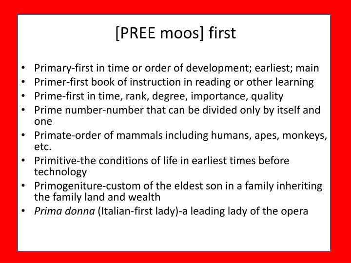 [PREE moos] first