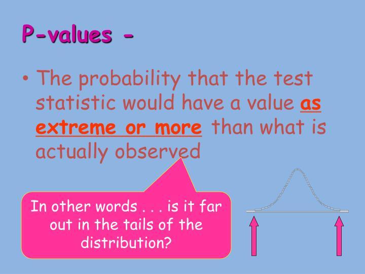 P-values -