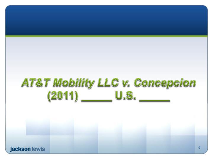 AT&T Mobility LLC v. Concepcion