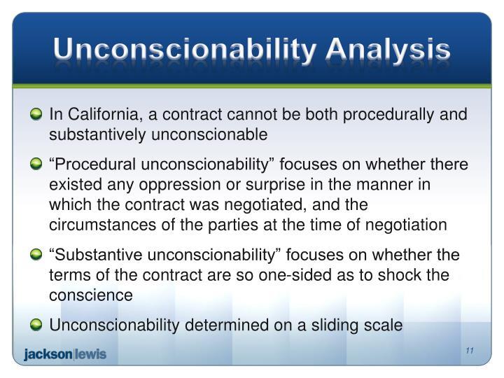 Unconscionability Analysis