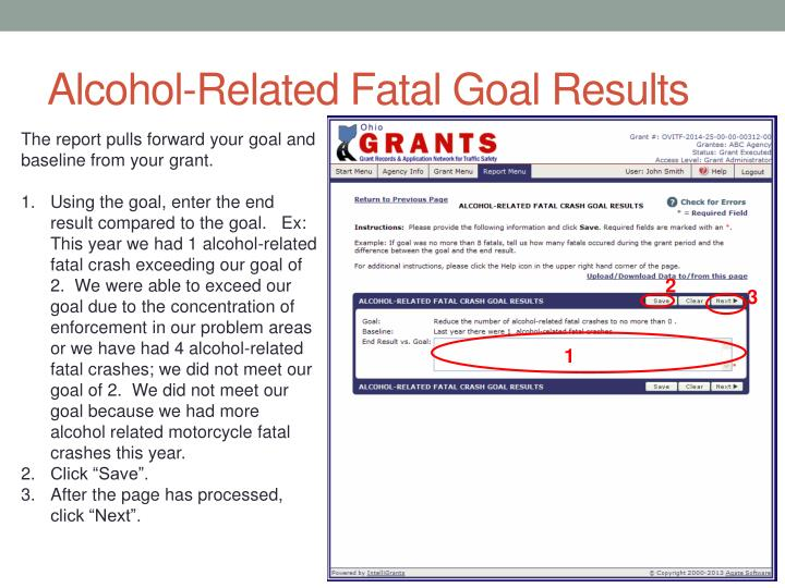 Alcohol-Related Fatal Goal Results