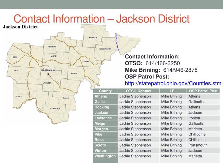 Contact Information – Jackson District