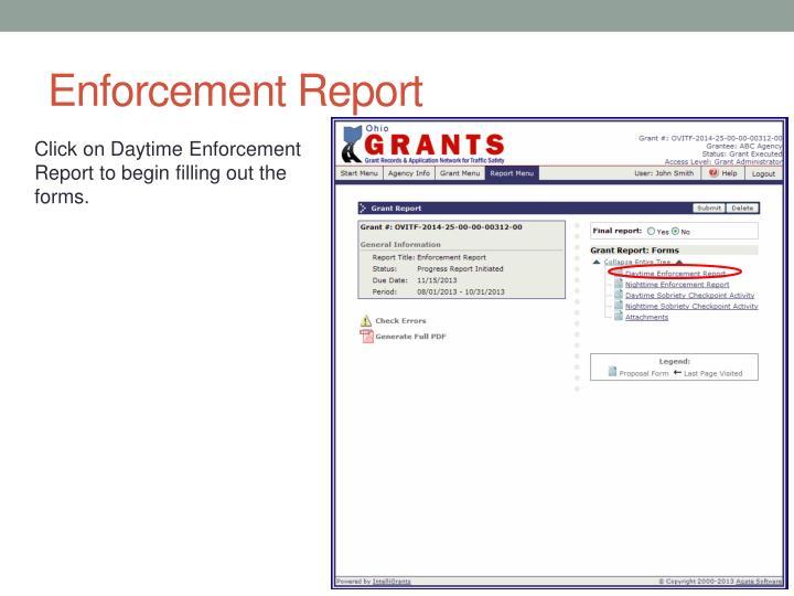 Enforcement Report
