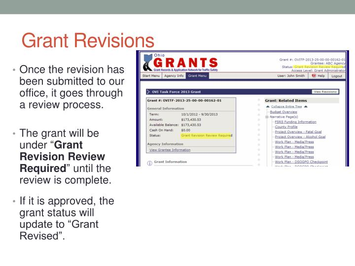 Grant Revisions