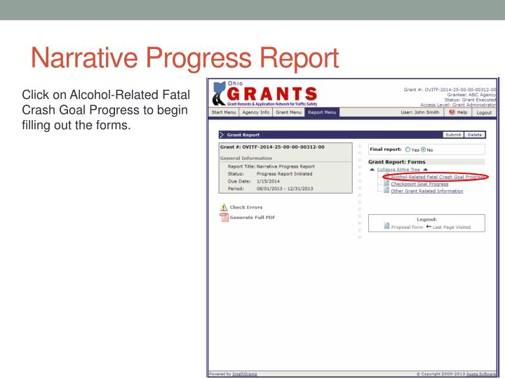 Narrative Progress Report