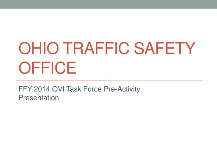 Ohio traffic safety office