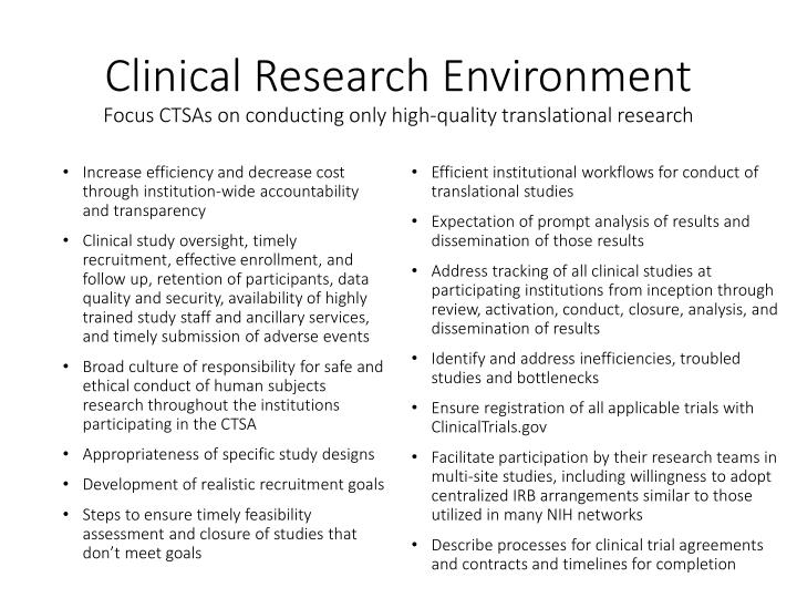 Clinical Research Environment