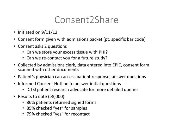 Consent2Share