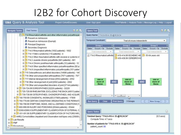 I2B2 for Cohort Discovery