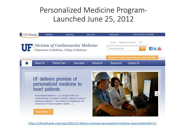 Personalized Medicine Program-